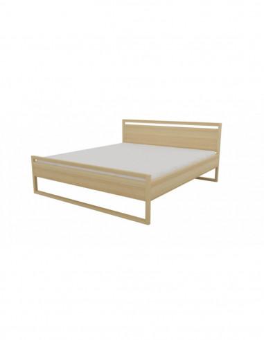 posteľ z bukovej priebežky